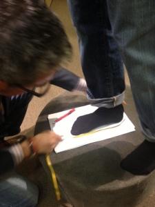 Bruno La Montaga, a master cobbler from Kiton's in Italy.