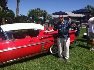Me with one of the great cars at Keels & Wheels.