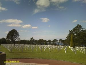 Normandy American Cemetery and Memorial, where some 9,300 Americans are buried.