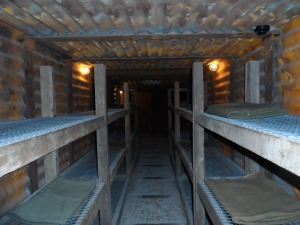 One of the bunk rooms in the underground portion of the Passchendaele museum.