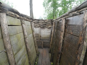 Part of the trenches at the Passchendaele museum.